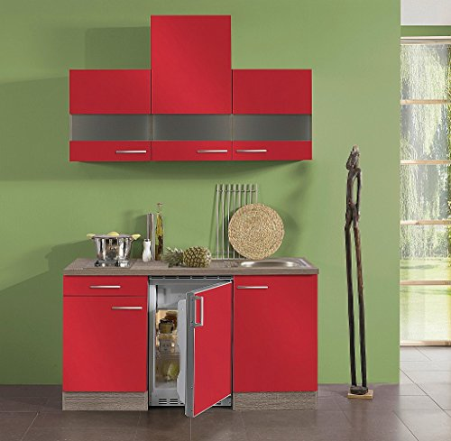 idealshopping singelk che mit elektroger ten imola in rot. Black Bedroom Furniture Sets. Home Design Ideas