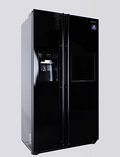samsung rsh5zlbg side by side k hl geffrierkombination schwarz glas a 494 liter m bel24. Black Bedroom Furniture Sets. Home Design Ideas