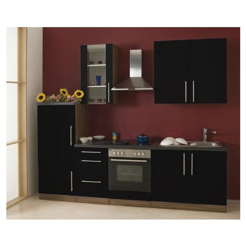mebasa mcukb27ns k che moderne k chenzeile hochwertige einbauk che 270 cm hochglanz k che. Black Bedroom Furniture Sets. Home Design Ideas