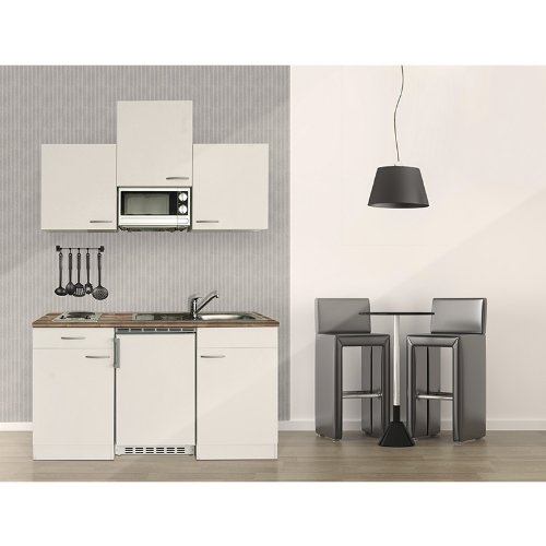 respekta k chenblock 150 cm wei wei mit apl butcher nussbaum inkl mikrowelle kb 150 wwmi. Black Bedroom Furniture Sets. Home Design Ideas